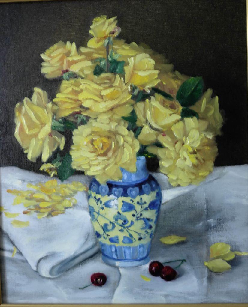 Bouquet-de-roses-jaunes