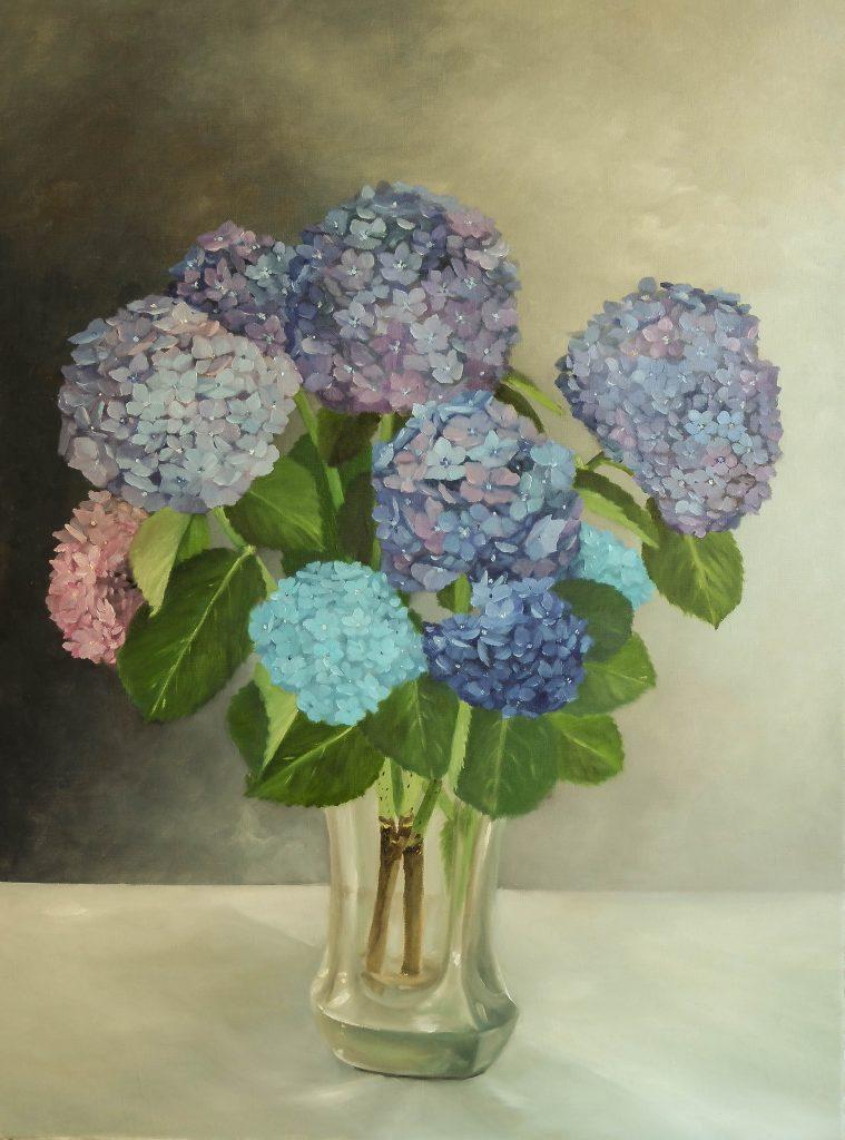 Hortensias-bleus-dans-un-vase