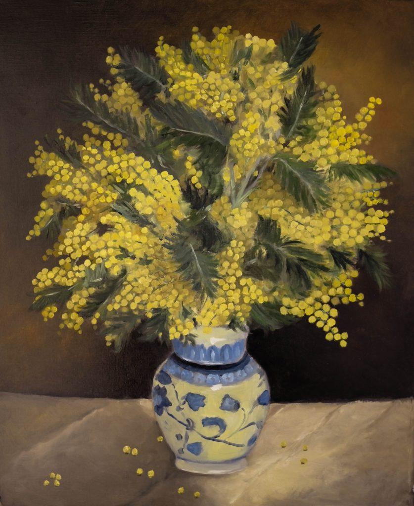 Mimosa-dans-un-vase