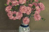 Oeillets dans un vase