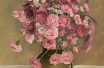 Oeillets roses dans un vase